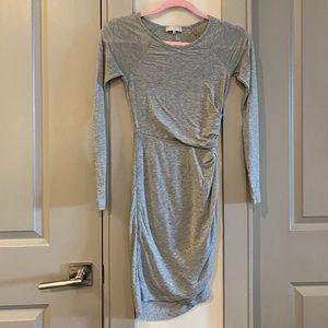 1. Slate Leigh Dress Gray Long Sleeve Layer Dress